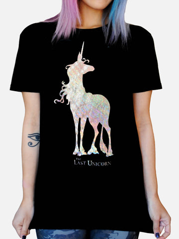 Rainbow Foil THE LAST UNICORN Classic Mia Shirt: Unisex Fit