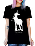 THE LAST UNICORN Classic Logo 'MIA' Shirt: Unisex