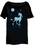 THE LAST UNICORN: We Live Forever Oversize Scoop Neck T-shirt