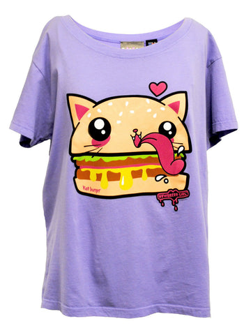 NewBreed Cat Burger Sloppy Oversize Crop Tee