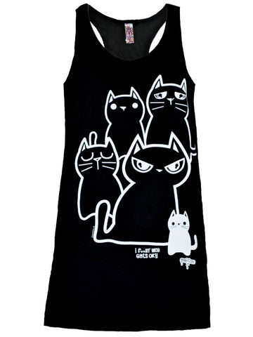 NewBreed:  I REALLY LIKE CATS OK stacked cats Tank