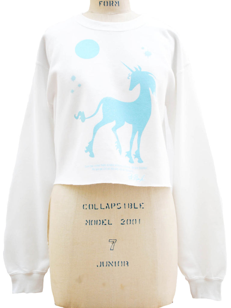 THE LAST UNICORN: We Live Forever Crop Fleece