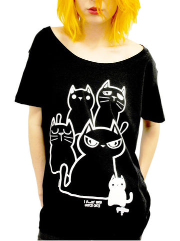 NewBreed Girls 'Fckin LIke Cats' Oversize Tee