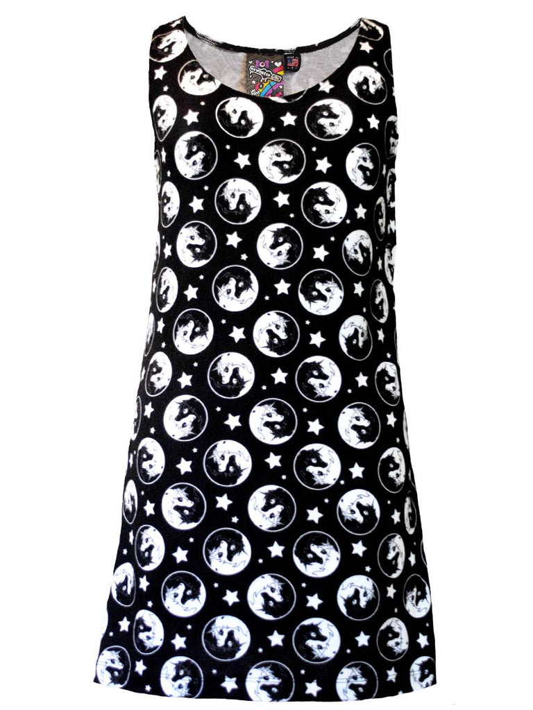 NewBreed Girl : Yin Yang Unicorn Mod Dress