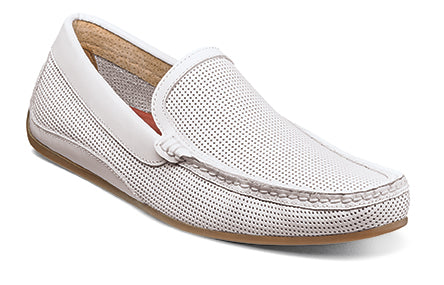 Florsheim White Oval Perf Driver Shoes