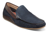 FLORSHEIM NAVY SUEDE OVAL PERF DRIVER SHOES in size 13 m, 14 m at lil johns big and tall