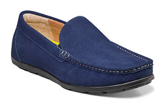 Florsheim Blue Suede Draft Moc Toe Venetian Driver Shoes