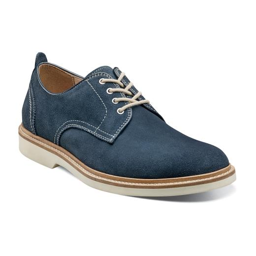 The Florsheim Bucktown Plain Ox comes in a variety of leathers and suede, all with a summer twist that transitions easily to the fall and winter seasons. A casual oxford with flavor, the Bucktown Plain Ox is a shoe that will soon become a part of your daily routine. The upper is genuine milled leather or suede. The linings are breathable leather. The insole is a fully cushioned footbed. The sole is flexible rubber. at lil johns big and tall