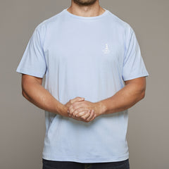 North 56 4 light blue tshirt with small chest print at lil johns big and tall mens clothing