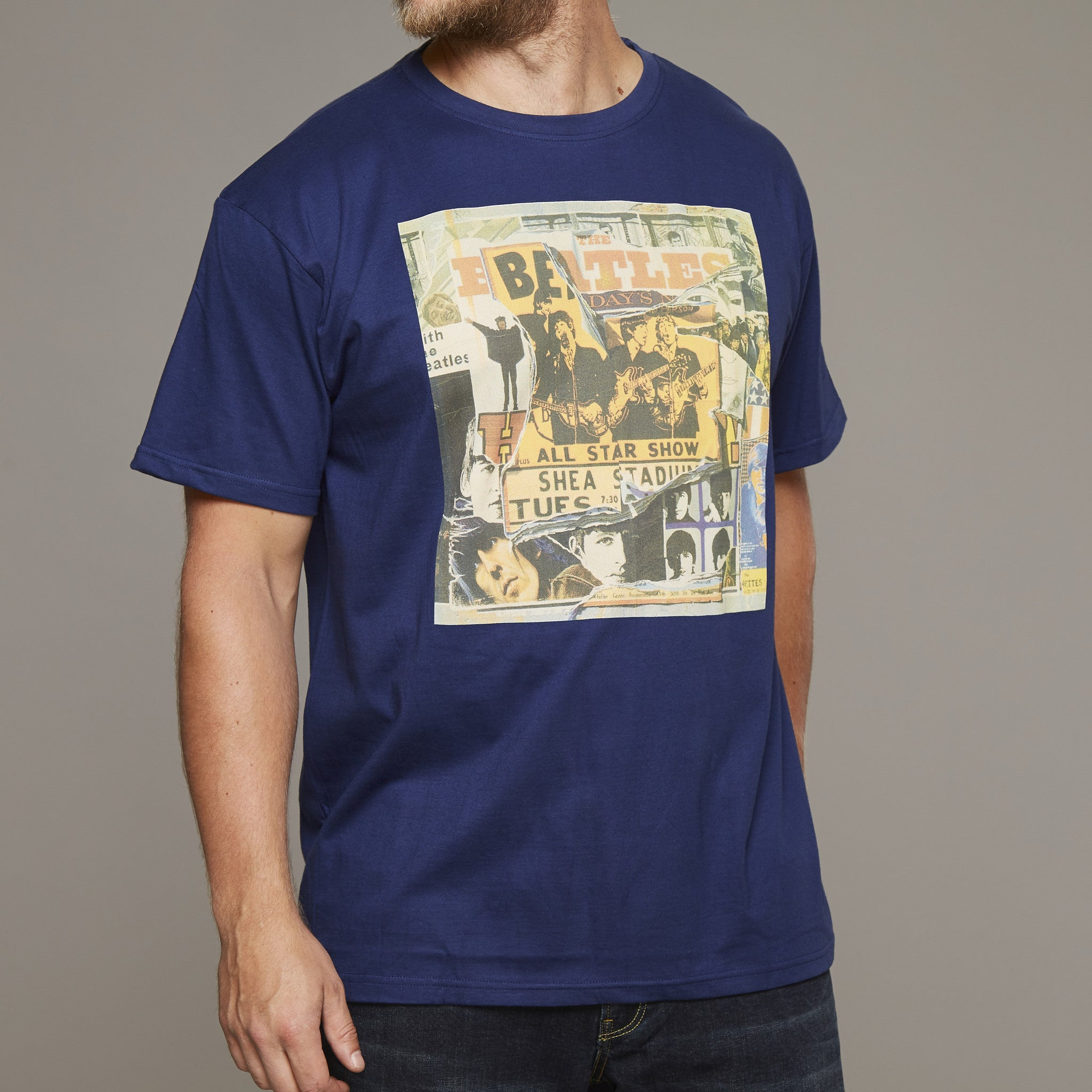 Replika Beatles Printed T-Shirt 100% cotton at Lil Johns Big and Tall men's Fashion
