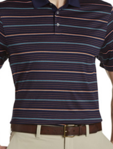 Cutter & Buck Helios Mercerized Stripe Polo