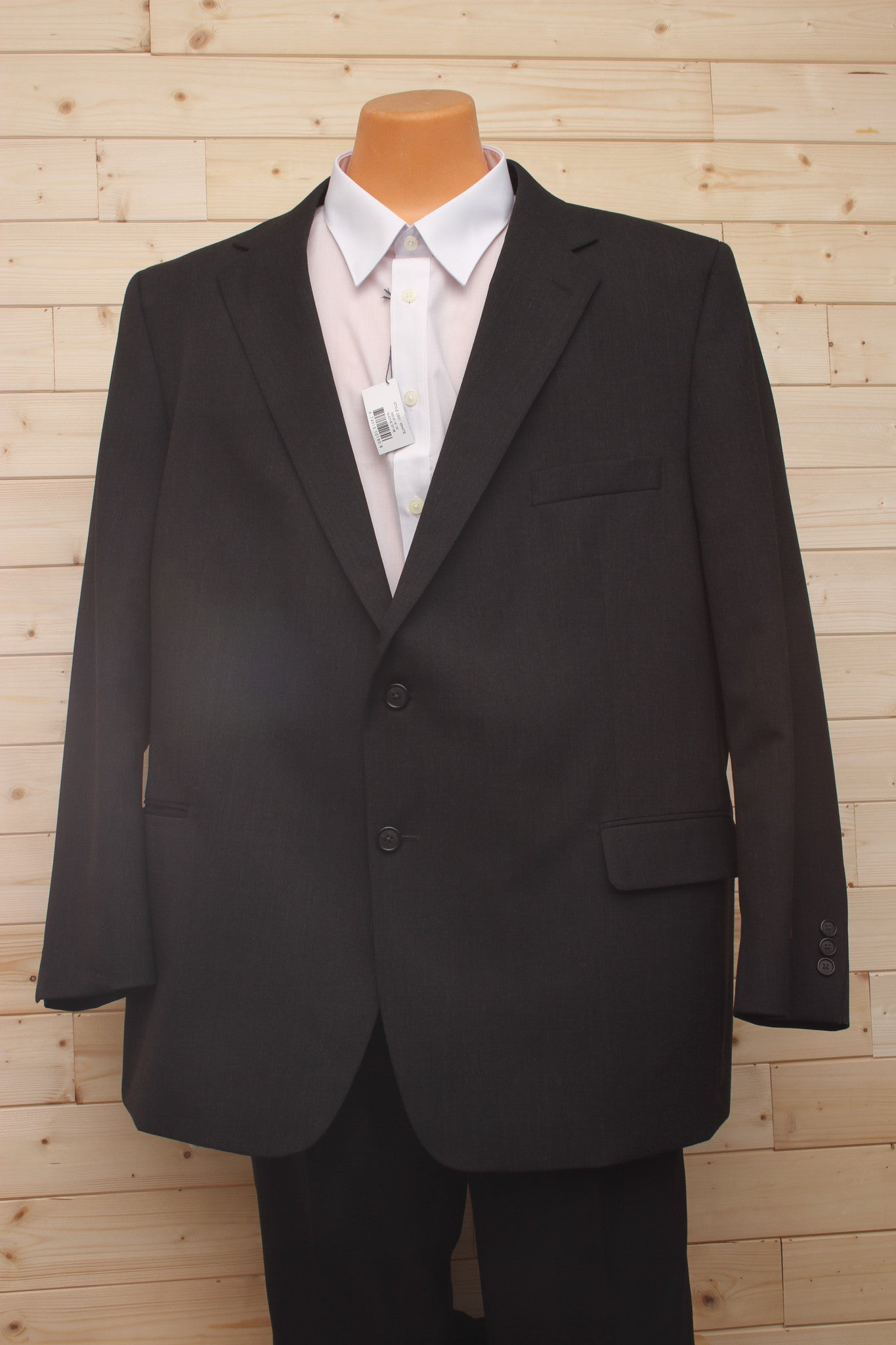 Petrocelli All Wool Charcoal Suit Separate Jacket at lil johns big and tall mens clothing