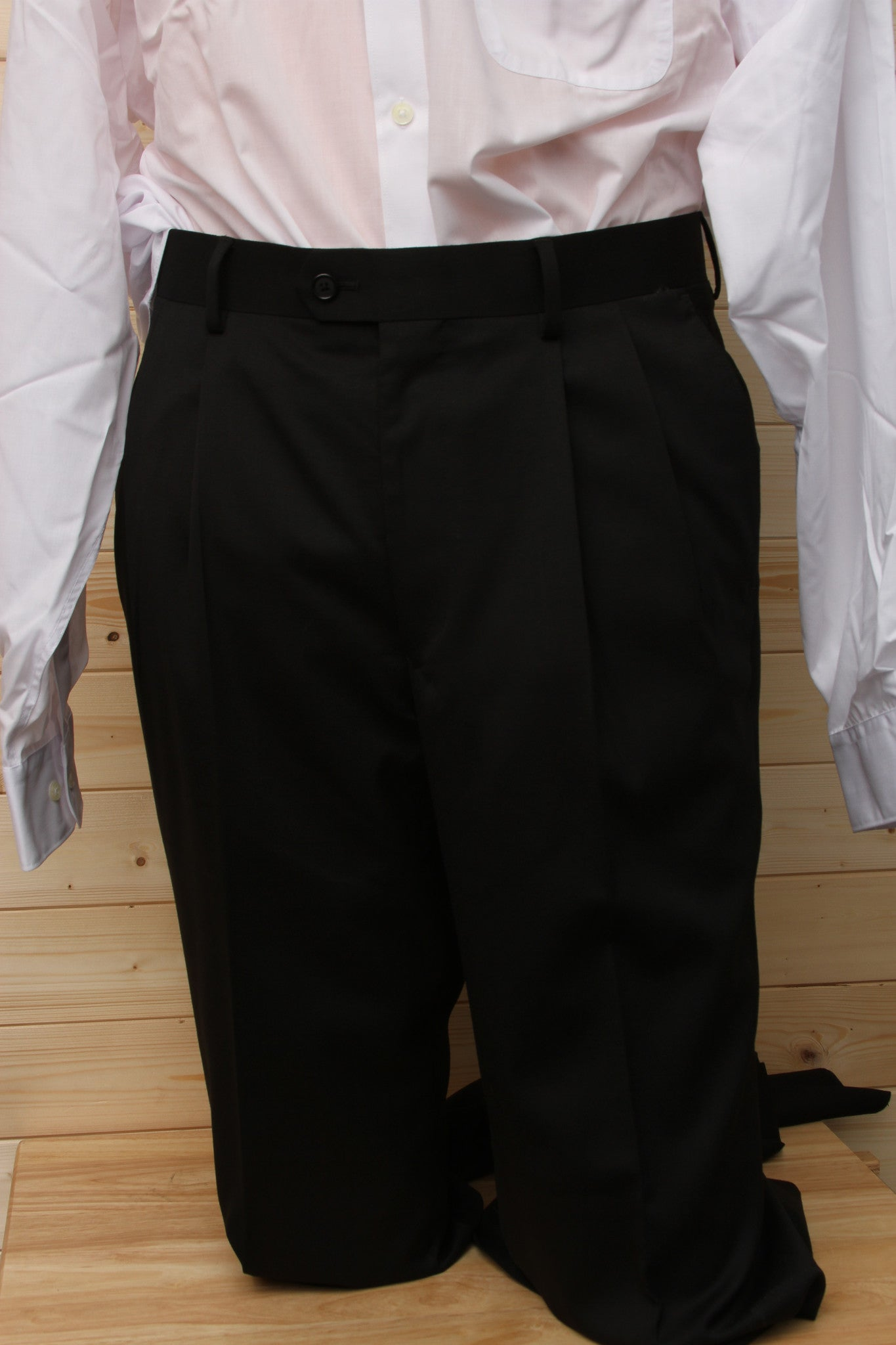 Petrocelli Wool Blend Black Suit Separate Pants at lil johns big and tall mens clothing
