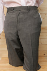 Petrocelli Wool Blend Black & White Tick Suit Separate Pants at lil johns big and tall mens clothing