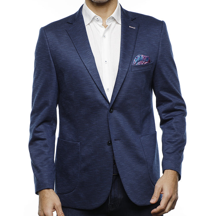 This Jacket is perfect to be worn with both dress and casually. Add it with a nice pair of wool dress pants in the morning before going into work, then add it with a pair of jeans for the Weekend.  Built in Pocket Square  Dry Clean  Made Up of 70% Modal 27% Viscon 3%Elastane at Lil Johns Big and tall