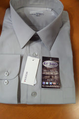 MODENA GREY POPLIN DRESS SHIRT