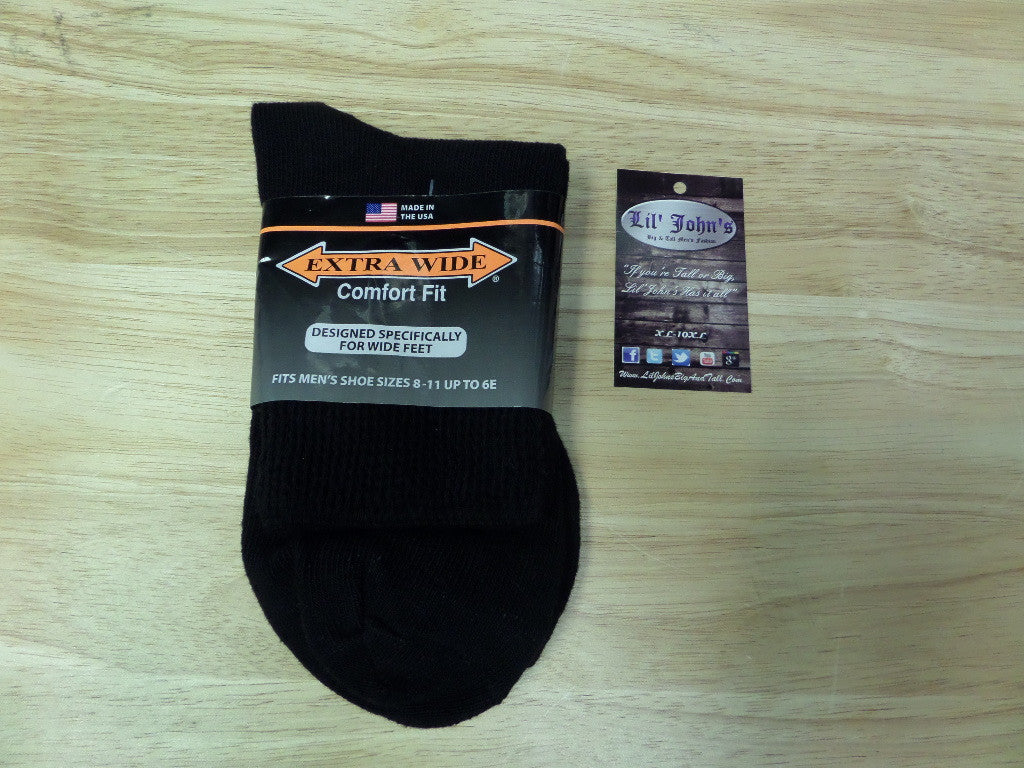Extra Wide Athletic Quarter Sock