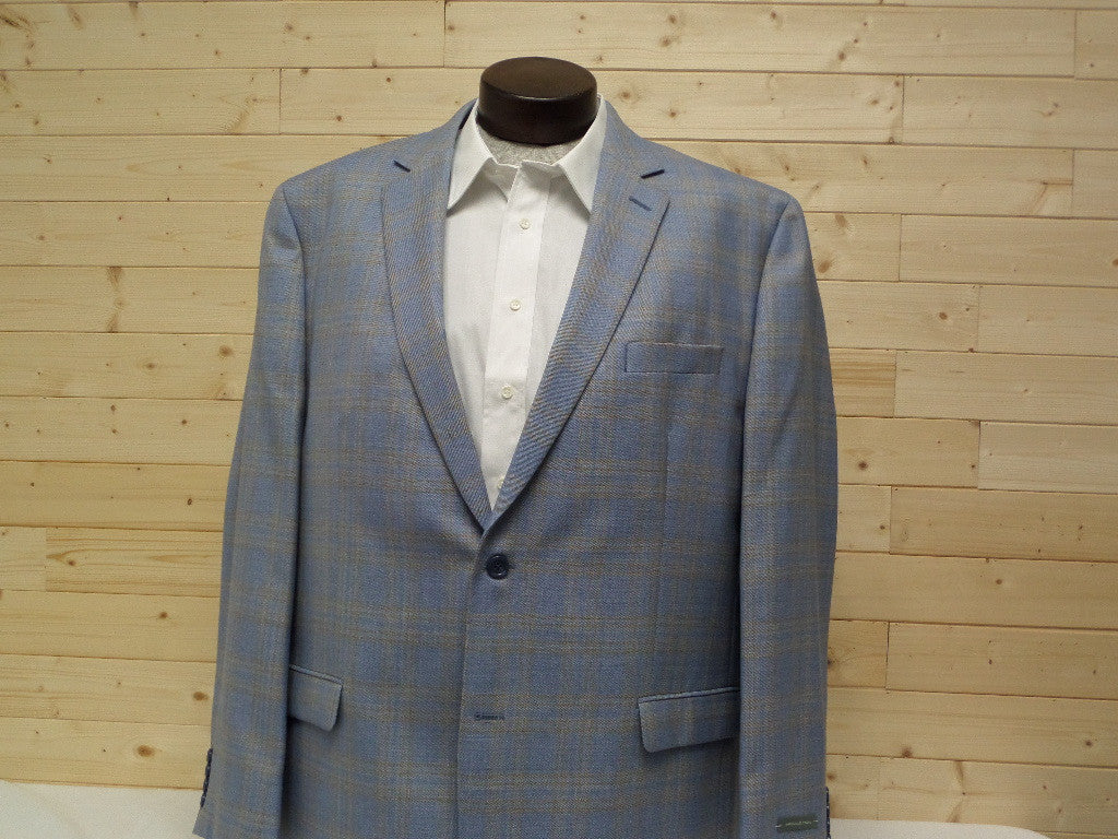 Shaquille O'neal Blue Plaid Sports Coats