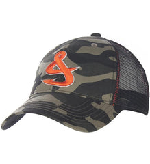 Camo Fisherman trucker hat at Lil johns big and tall mens fashion pensacola Fl