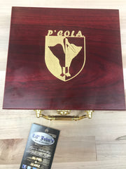 John Edwin Pensacola Pelican logo card set in wooden case Limited edition only at Lil Johns Big and Tall