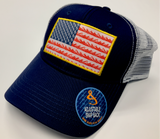 Hook & Tackle American Flag Trucker Hats