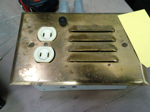 Outlet Box, Brass Cover