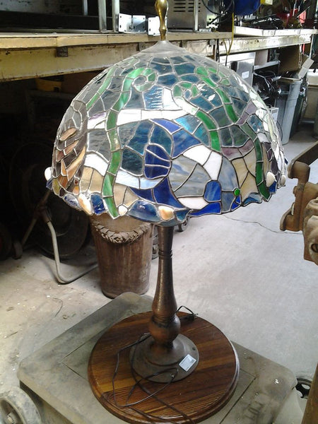 Lamp, Nautical Tiffany Shade