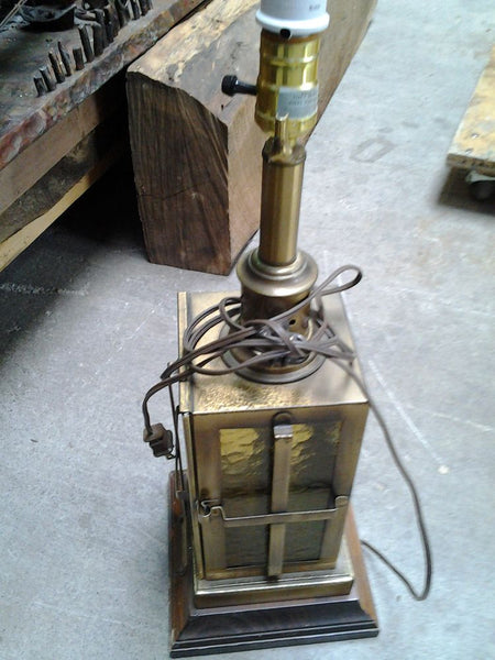 Lamp, Square Brass Lantern