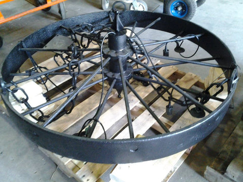 "48"" Wagon Wheel Chandelier"