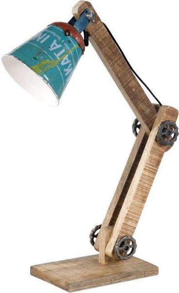 Wooden Table Lamp, Adjustable
