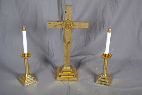 Altar Set, Candles & Cross