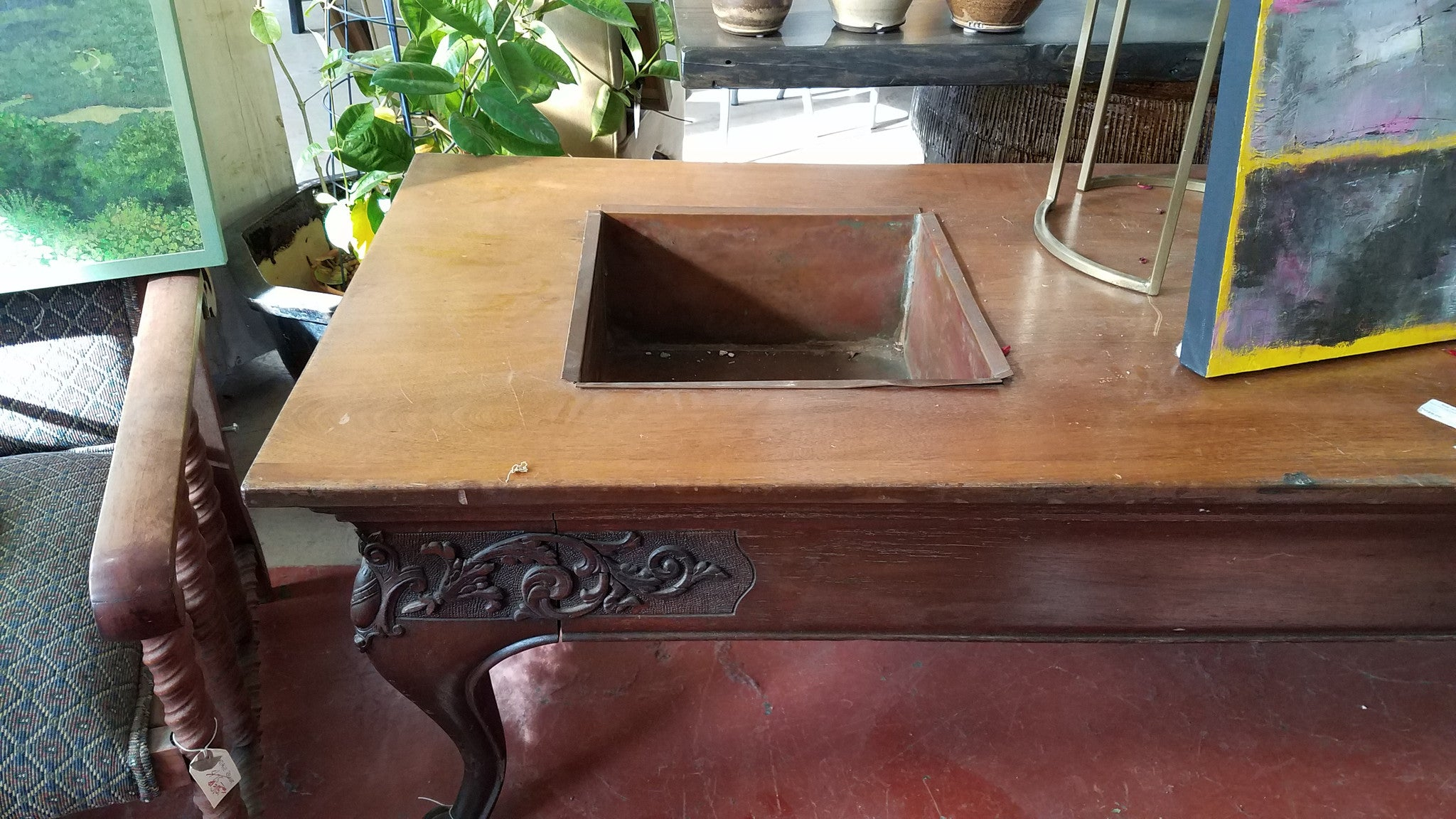 Wake viewing table black dog salvage