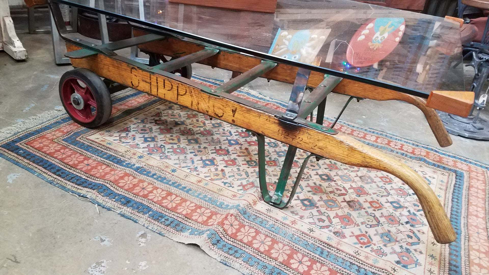 Coffee Table Two Wheeler Black Dog Salvage