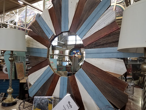 Sunburst Mirror - Salvaged Trim