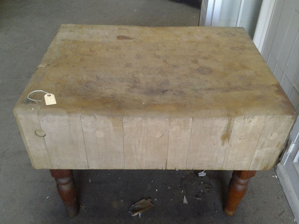 Antique / Vintage Butcher Block Table