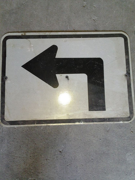 Street Sign, Left Turn