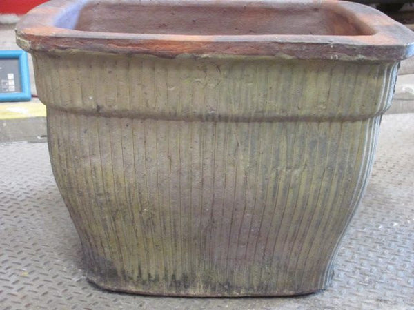 Planter, Square, Glazed #8858