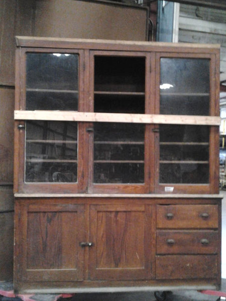 Hutch, Cabinet, Glass Doors