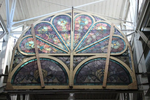 Stained Glass Arched Window, Supersized