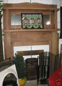 Walnut Mantel with Overmantel