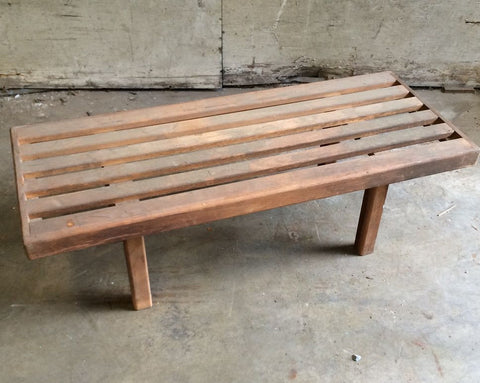 Bench / Table - Slatted Wood