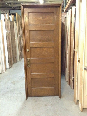 Oak Veneer Door in Jamb