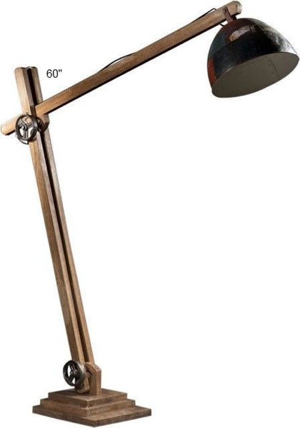 Wood and Metal Extendable Lamp, 60""