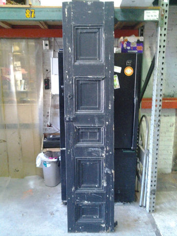 Antique Wooden 5 Panel Shutter, SET