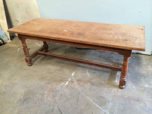 Library Table, Oak, Trestle