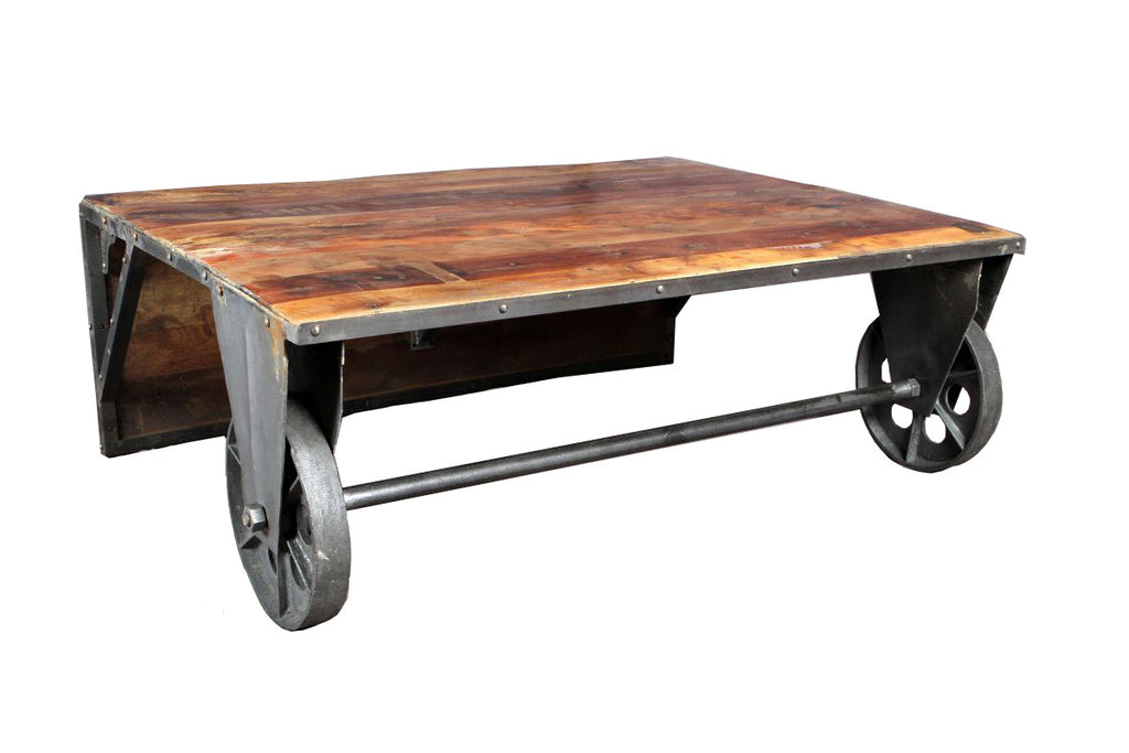 Convertible cocktail or coffee table black dog salvage - Transformable coffee table ...