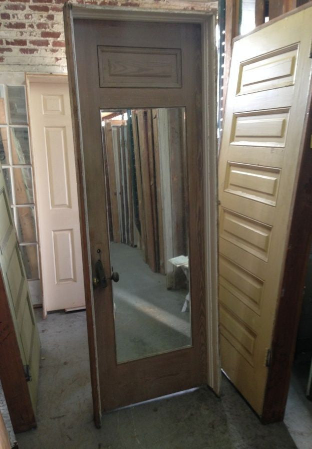 6 Panel Door in Jamb, with Mirror