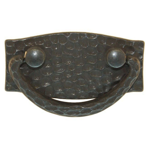 Hammered Drawer Pull, Black
