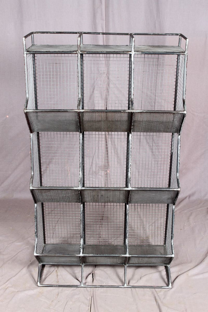 Metal Display Rack - 9 Bin