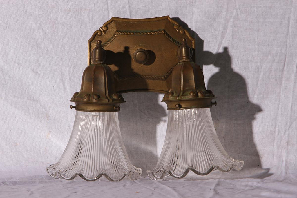 Sconce, Brass, Double Arm